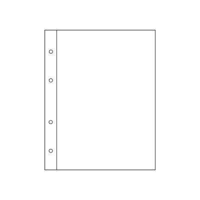 "Лист для банкнот, открыток, фото. на 1 ячейку. Стандарт ""GRAND"". Размер 245х310 мм (ЛБФ1-G)"
