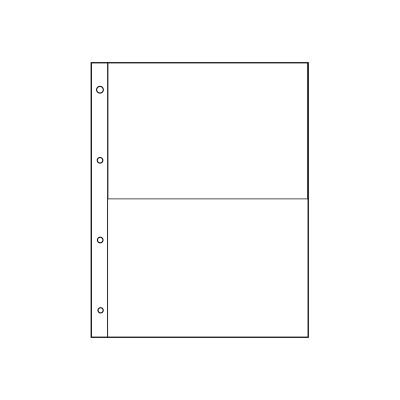 "Лист для  банкнот, открыток, фото. на 2 ячейки. Стандарт ""GRAND"". Размер 245х310 мм (ЛБФ2-G)"