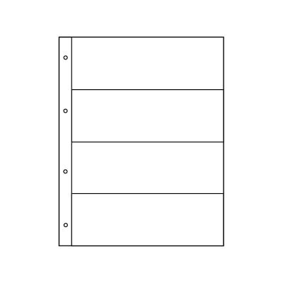 "Лист для банкнот, открыток, фото. на 4 ячейки. Стандарт ""GRAND"". Размер 245х310 мм (ЛБФ4Г-G)"