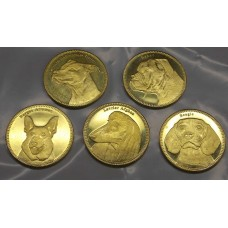 Собаки. Набор 5 монет. 5 шиллингов  2019 года.  Сомалиленд (Из банковского ролла)