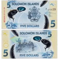 Полимерная банкнота 5 долларов 2019 года. Соломоновы острова. (Pick **). Из банковской пачки (UNC)