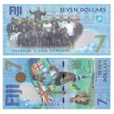 Банкнота  7 долларов 2016 года (Pick 120). Фиджи. Из банковской пачки (UNC)