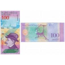 100 боливар 2018 года. Венесуэла. Из банковской пачки (UNC)
