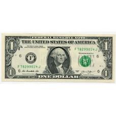 Банкнота 1 доллар 2013 год. США. Из банковской пачки (UNC)