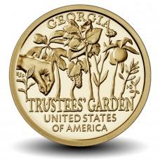 Попечительские сады. Джорджия.1 доллар 2019 США. (Двор P) Из банковского мешка. UNC