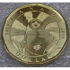 50 лет декриминализации гомосексуализма в Канаде. 1 доллар 2019 года. Канада UNC