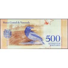 500 боливар 2018 года. Венесуэла. Из банковской пачки (UNC)
