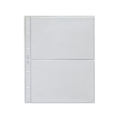 "Лист для хранения 2-х банкнот. Стандарт ""OPTIMA"". Размер 200х250 мм СОМС (ЛБ2-O)"