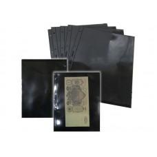 Лист для банкнот, фото и листов формата А4  1 ячейка на чёрной основе (ЛЧФ1-G, двухсторонний). СОМС