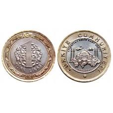Собор Святой Софии. Монета 1 лира 2020 год. Турция. Из банковского мешка (UNC)