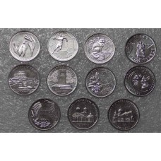 Набор памятных монет номинал 1 рубль  Приднестровья 2020 года. (11 монет). Из банковского мешка