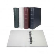Альбом вертикальный 230х270 мм, Optima, Элит, натуральная кожа , (цельный без листов)
