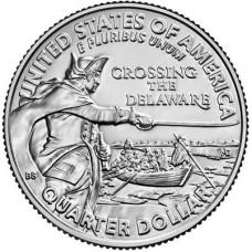 Джордж Вашингтон - Переправа через реку Делавэр. 25 центов 2021 года. США  (монетный двор Денвер) UNC