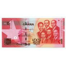 Банкнота 1 седи 2015 года. Гана. UNC