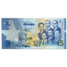 Банкнота 5 седи 2014 года. Гана. UNC
