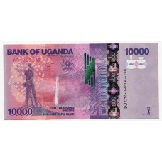 Банкнота 10000 шиллингов 2013 года. Уганда. UNC