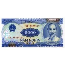 Банкнота 5000 донгов 1991 год. Вьетнам. UNC
