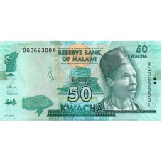 Банкнота 50 квача 2017 год. Малави (UNC)