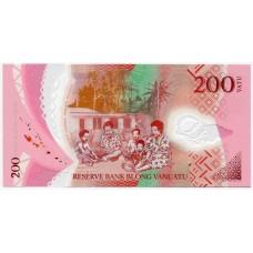 Полимерная банкнота 200 вату 2014 года. Вануату. Из банковской пачки