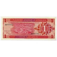 Банкнота 1 гульден 1970 года Нидерландские Антильские Острова. Из банковской пачки