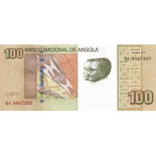 Банкнота 100 кванз 2012 года. Ангола «Водопады Бинга» UNC
