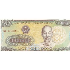 Банкнота 1000 донгов 1988 год. Вьетнам. UNC