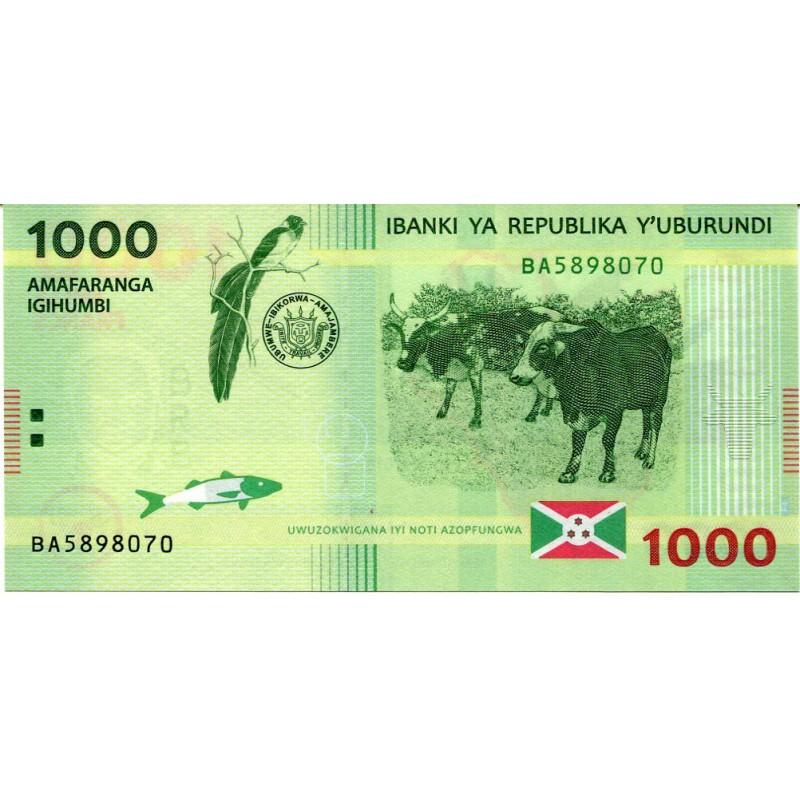 Банкнота 1000 франков 2015 года Бурунди