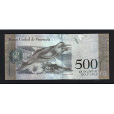Банкнота 500 боливар 2017 год. Венесуэла. «Амазонский дельфин»  UNC