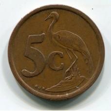 5 центов , 1993 год, Южно-Африканская Республика  (из обращения)