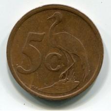 5 центов , 2009 год, Южно-Африканская Республика  (из обращения)