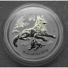 Год собаки. 1 доллар 2018 год. Австралия (UNC)