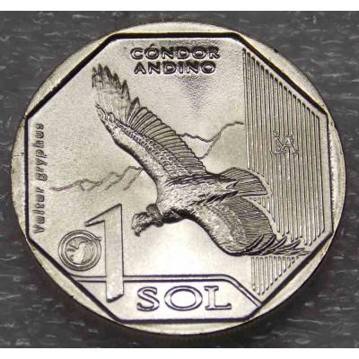 Андский кондор (CÓNDOR ANDINOS). 1 соль 2017 года. Перу (UNC)