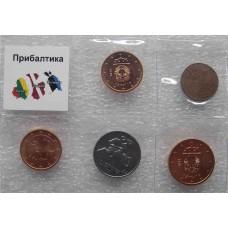 Тематический набор монет Прибалтика  (5 монет)
