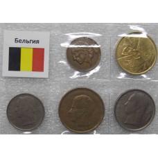 Набор монет Бельгия  (5 монет)