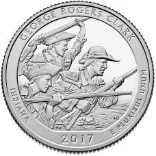 Национальный исторический парк имени Дж. Р. Кларка. 25 центов 2017 года США. №40. (монетный двор Сан-Франциско) (UNC)