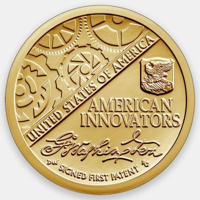 Первый патент. Американские инновации 1 доллар 2018 США.  (Двор D)