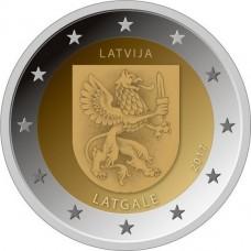 Историческая область Латгале. 2 евро 2017 года. Латвия (UNC)