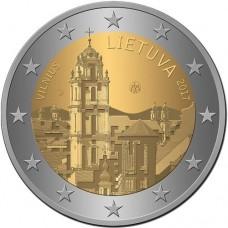 Вильнюс - столица культуры и искусства. 2 евро 2017 года. Литва (UNC)