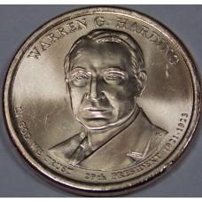 1 доллар США 2014 г. Уоррен Гардинг - 29 президент США. Монетный двор -D