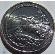 Национальный парк Шенандоа. 25 центов США.  №22