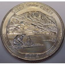 н.п. Грейт-Санд-Дьюнс. 25 центов 2014 года США. №24 (D)