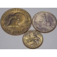 Набор из трех монет 1976 США. Серия