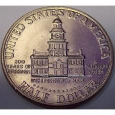 Half Dollar (50 центов) США 1976 год.