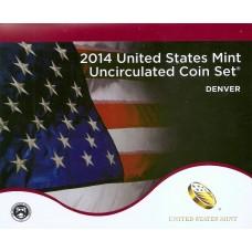 Годовой набор США 2014 года. Монетный двор Денвера и Филадельфии