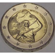 Независимость 1964, 2 евро 2014 года,  Мальта