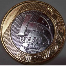1 Реал 2014 года  ОЛИМПИАДА-2016. Набор монет (выпуск №1). Бразилия.