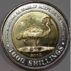 1000 шиллингов 2012 года. Уганда