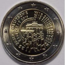 25-летие объединения Германии. 2 евро 2015 года. Германия