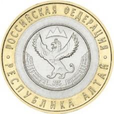 Республика Алтай. Монета 10 рублей 2006 года. Биметалл СПМД (из оборота)