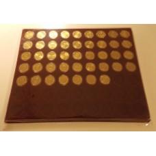 Набор памятных монет 10 рублей (гальваника) в планшете.  63 ячейки